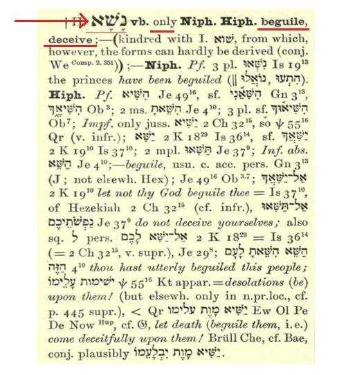 Hebrew Word Nasha