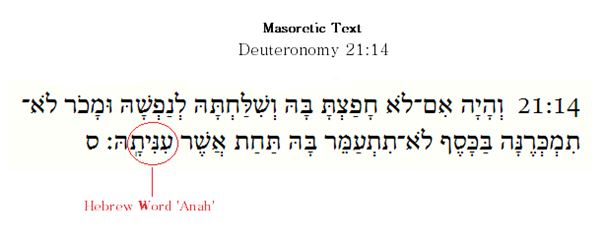 hebrew word anah
