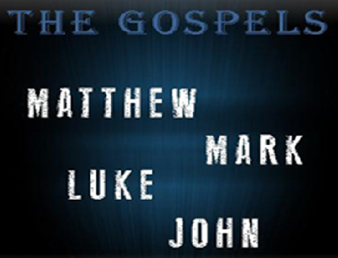 The four Gospels, Matthew, Mark, Luke and John