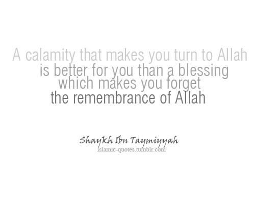 calamity, Allah