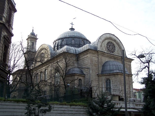 Old Greek Orthodox Church in Istanbul's Beyoglu district