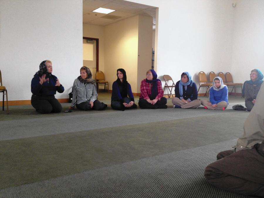 Grace United Methodist Church members recently visited the Mosque