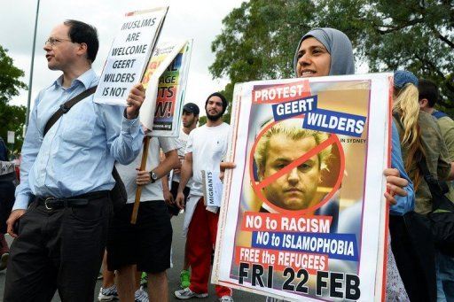 Wilders' inflammatory speeches against Islam in Australia, have triggered protests from Muslims in Australia.