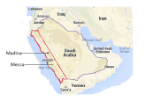 map hijaz