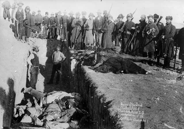 Wounded Knee massacre, Pic Credit Manitouamericans.com