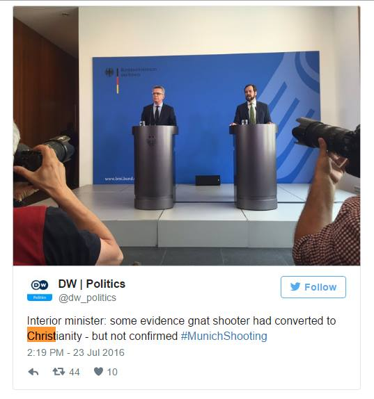Screenshot from DW | Politics twitter account