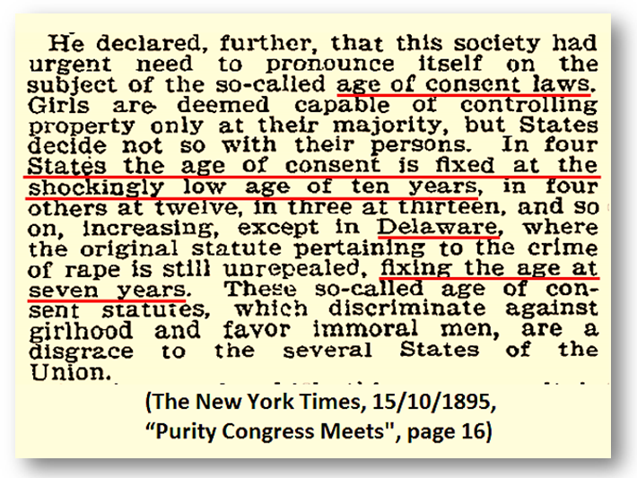 Excerpt quote from The New York Times, 15th October 1895 - credit NYT
