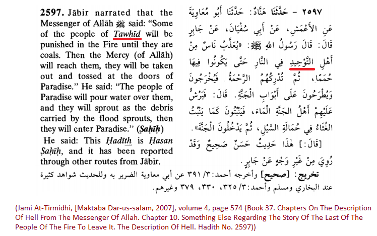 Br Bassam Zawadi Provided Plenty Of Other Hadith Reports Where The Word Tawheed Is Mentioned Here Are Two Them