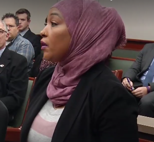 Victim Asma Jama in court (Screen-grab, credit: WCCO-TV | CBS Minnesota