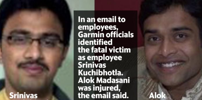 Indian victims, Srinivas Kuchibhotla (left), Alok Madasani (right) Screengrab Credit: Kansascity.com